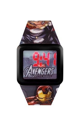 Avengers Jungen Armbanduhr Digital mit Blue Dial Digital Display und Gummiband avg3522