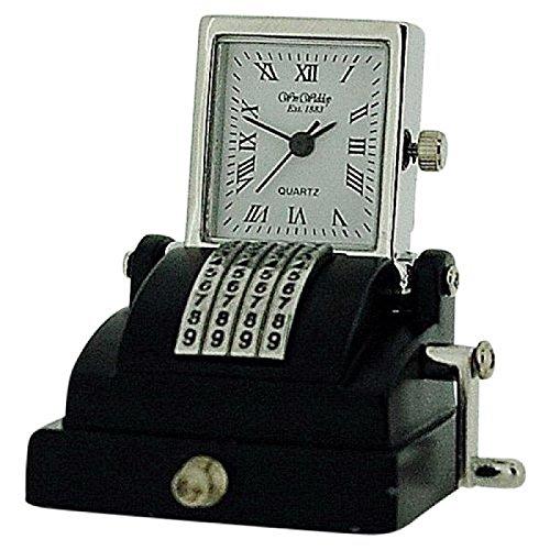 The Emporium Miniature Clocks 9744 Armbanduhr Armband aus Metall Farbe Schwarz