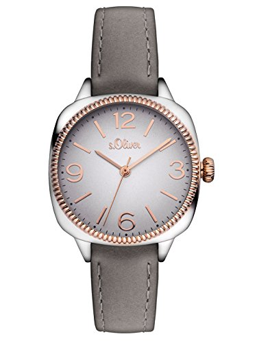 s Oliver Damen Armbanduhr Analog Quarz Leder SO 3136 LQ