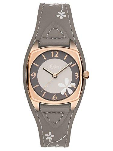 s Oliver Damen Armbanduhr Analog Quarz Leder SO 3185 LQ