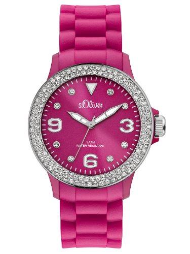 s Oliver Damen Armbanduhr Analog Silikon SO 2446 PQ