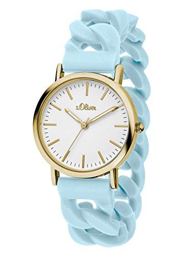 s Oliver Damen Armbanduhr Analog Quarz Silikon SO 3253 PQ