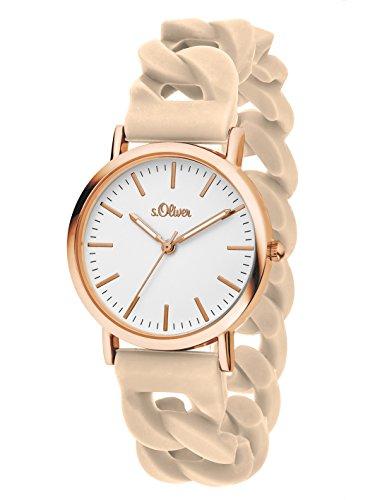 s Oliver Damen Armbanduhr Analog Quarz Silikon SO 3258 PQ