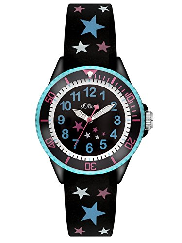 s Oliver Maedchen Armbanduhr Analog Quarz Silikon SO 3178 PQ