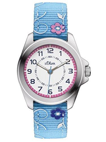 s Oliver Maedchen Armbanduhr Analog Quarz Textil SO 3176 LQ