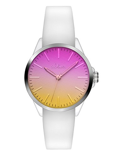 s Oliver Unisex Armbanduhr Analog Quarz Silikon SO 3196 PQ