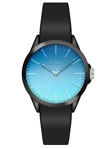 s Oliver Unisex Armbanduhr Analog Quarz Silikon SO 3198 PQ