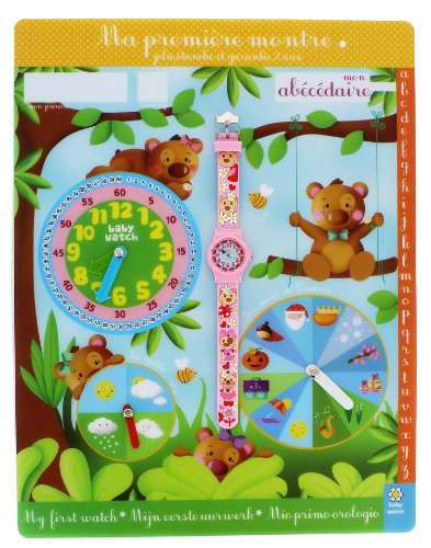 Baby Watch Abc Ourson Quarz Rosa Abc Ourson