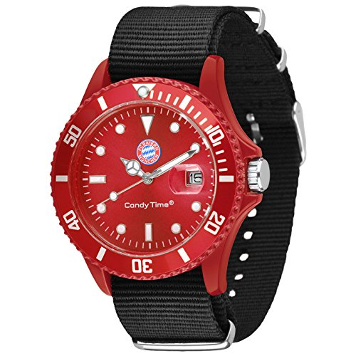 Candy Time by Madison New York FC Bayern Muenchen Unisexuhr schwarz rot U4736 38 1