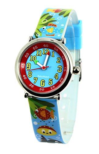 Baby Watch Jungen Armbanduhr Coffret Bon Heure Aquatique Quarz Mehrfarbig 3700230606191