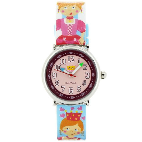 Baby Watch Kinder Armbanduhr Analog Quarz Mehrfarbig Coffret Royaume Enchante