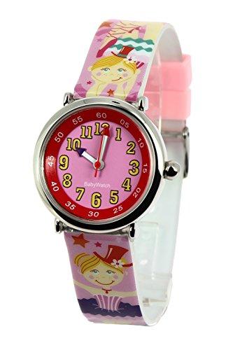 Baby Watch Maedchen Armbanduhr Coffret Bon Heure Acrobate Quarz Mehrfarbig 3700230606177