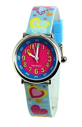 Baby Watch Maedchen Armbanduhr Coffret Bon Heure Love Quarz Mehrfarbig 3700230606160