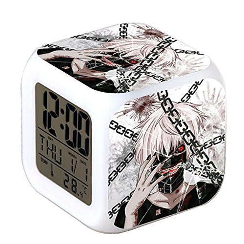 R timer New Anime Tokyo Ghoul Alarm Clock LED Light Nightlight Accessories for Teenager Art C