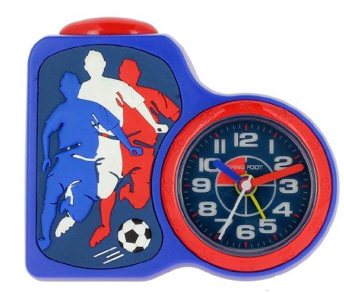 Baby Watch Motivdruck Dring Fussball Kinder Wecker Quarz Analog Blau