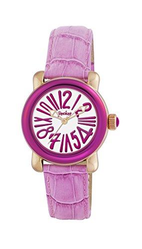Pocket Damen Armbanduhr Analog Quarz Leder PK1004