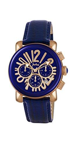 Pocket Damen Armbanduhr Chronograph Quarz Leder PK2056