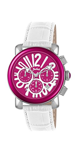 Pocket Damen Armbanduhr Chronograph Quarz Leder PK2057