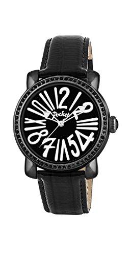 Pocket Damen Armbanduhr Rond Crystal Medio Analog Quarz Leder PK2018
