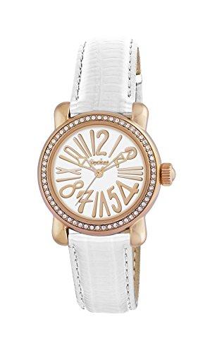 Pocket Damen Armbanduhr Kristall Analog Quarz Leder PK1010