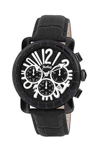Pocket Herren Armbanduhr Chronograph Quarz Leder PK3019