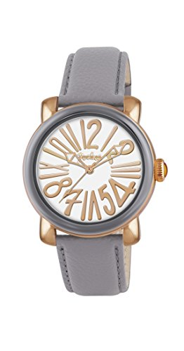 Pocket Rond Medio Damen Armbanduhr Analog Quarz Leder PK2006