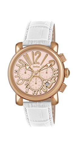 Pocket Rond Medio Damen Armbanduhr Chronograph Quarz Leder PK2050