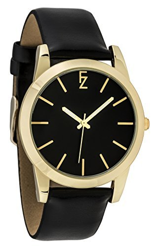 ferenzi Armband Schwarz und Gehaeuse Gold fz17504