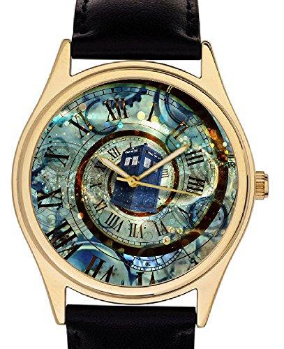 Surrealistische Original ueberholt Art Doctor Who Tardis Collectible 40 mm Armbanduhr