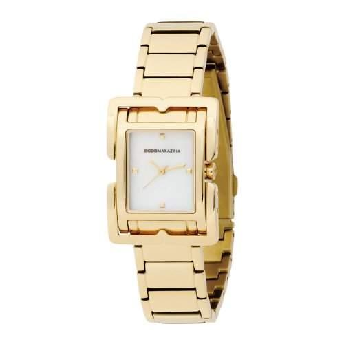 BCBG Damen-Armbanduhr Analog Edelstahl beschichtet gold BG8203