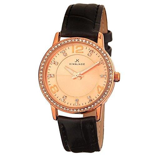 Keine Armbanduhr Kim Jade mit Swarovski Kristallen 2031lgpblgp Damen