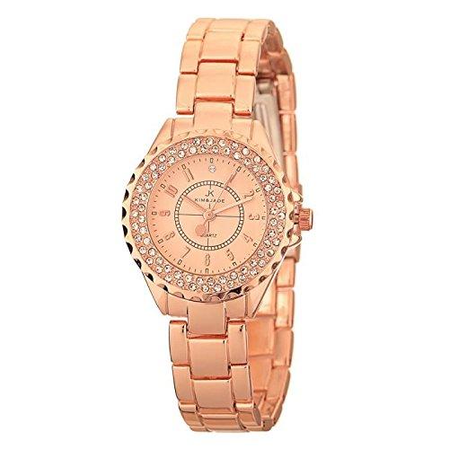 Keine Armbanduhr Kim Jade mit Swarovski Kristallen 2033lgpgp Damen