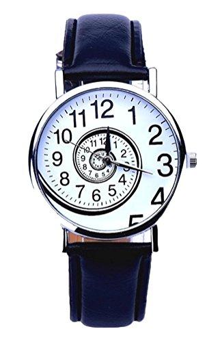 Zeigt Damen Quarz Stil Wirbel Armband schwarz