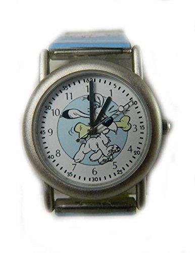 Sammelfigur Asterix mit dogmaix auf Zifferblatt Pictorial blau Gurt NEU