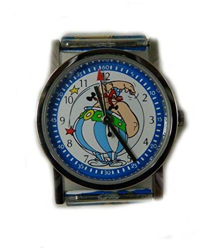 Sammelfigur Asterix Uhr Obelix Zifferblatt Pictorial Obelix blau Gurt
