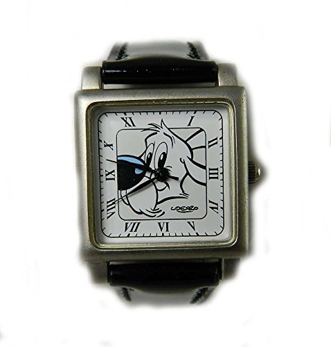 Sammelfigur Asterix Uhr Idefix Zifferblatt Pictorial Asterix Obelix schwarz Patent Gurt NEU Aussehen