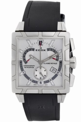 Edox Mens 01504 3 AIN Classe Royale Chronograph Retrograde Watch