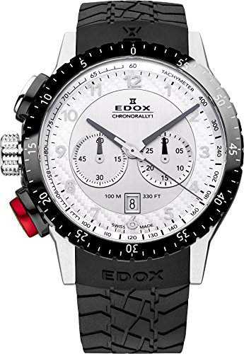 EDOX Unisex-Armbanduhr EDOX RALLY INSTRUMENTS CHRONORALLY 1 Chronograph Quarz Kautschuk 10305 3NR AN