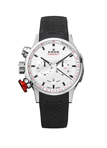 EDOX Unisex-Armbanduhr EDOX RALLY INSTRUMENTS CHRONORALLY Chronograph Quarz Kautschuk 10302 3 AIN