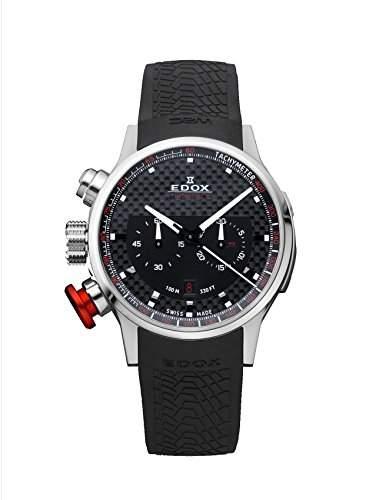 EDOX Unisex-Armbanduhr EDOX RALLY INSTRUMENTS CHRONORALLY Chronograph Quarz Kautschuk 10302 3 NIN2