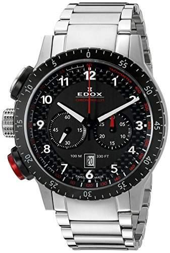 EDOX Unisex-Armbanduhr EDOX CHRONORALLY 1 Analog Quarz Edelstahl 10305 3NRM NR