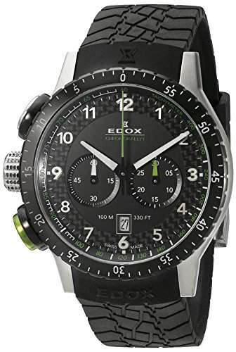 EDOX Unisex-Armbanduhr EDOX RALLY INSTRUMENTS CHRONORALLY 1 Chronograph Quarz Kautschuk 10305 3NV NV