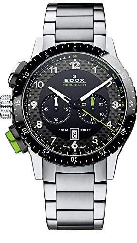 EDOX Unisex-Armbanduhr EDOX CHRONORALLY 1 Analog Quarz Edelstahl 10305 3NVM NV