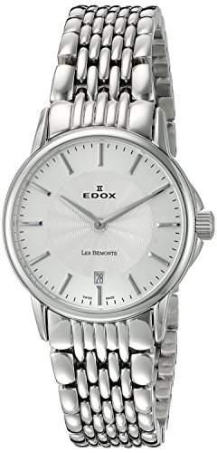 EDOX Damen-Armbanduhr LES BEMONTS -ULTRA SLIMM SWISS MOVEMENT Analog Quarz Edelstahl 57001 3M AIM