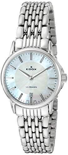 EDOX Damen-Armbanduhr LES BEMONTS -ULTRA SLIMM SWISS MOVEMENT Analog Quarz Edelstahl 57001 3M NAIN