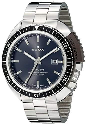 EDOX Herren-Armbanduhr EDOX HYDRO SUB Analog Quarz Leder 53200 3NGM GIN