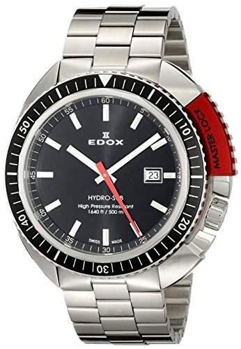 EDOX Herren-Armbanduhr EDOX HYDRO SUB Analog Quarz Leder 53200 3NRM NIN