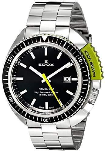 EDOX Herren-Armbanduhr EDOX HYDRO SUB Analog Quarz Leder 53200 3NVM NIN