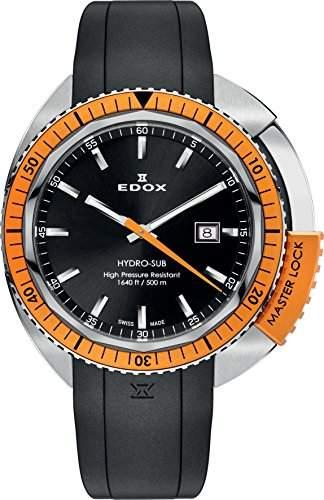 EDOX Unisex-Armbanduhr EDOX HYDRO SUB Analog Quarz Kautschuk 53200 3OCA NIN