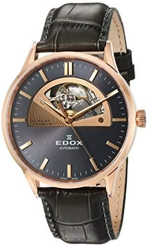 Edox Les Vauberts Herrenuhr Open Heart Automatic 85014 37R GIR